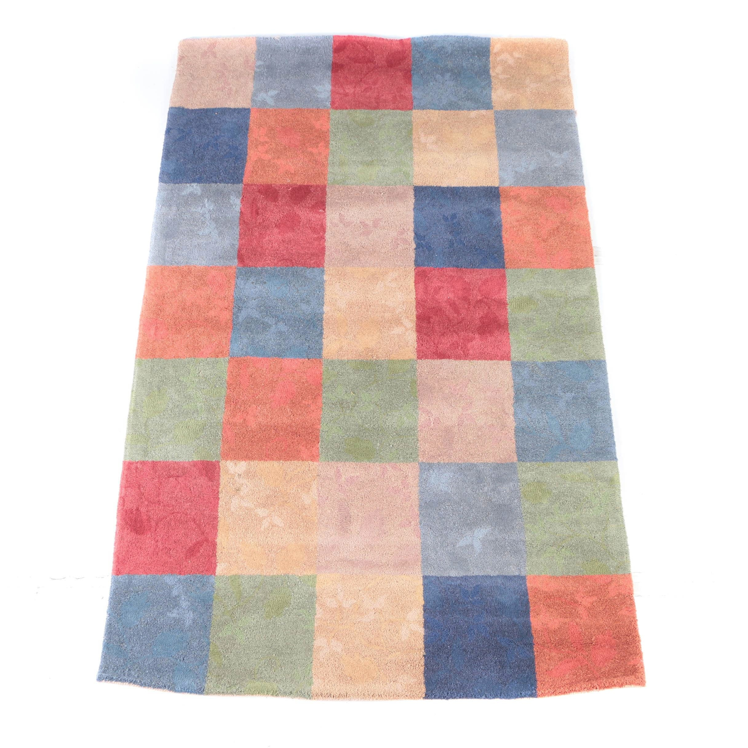 "Machine Made ""Vine Multi-Block"" Wool Area Rug by Pier 1 Imports"