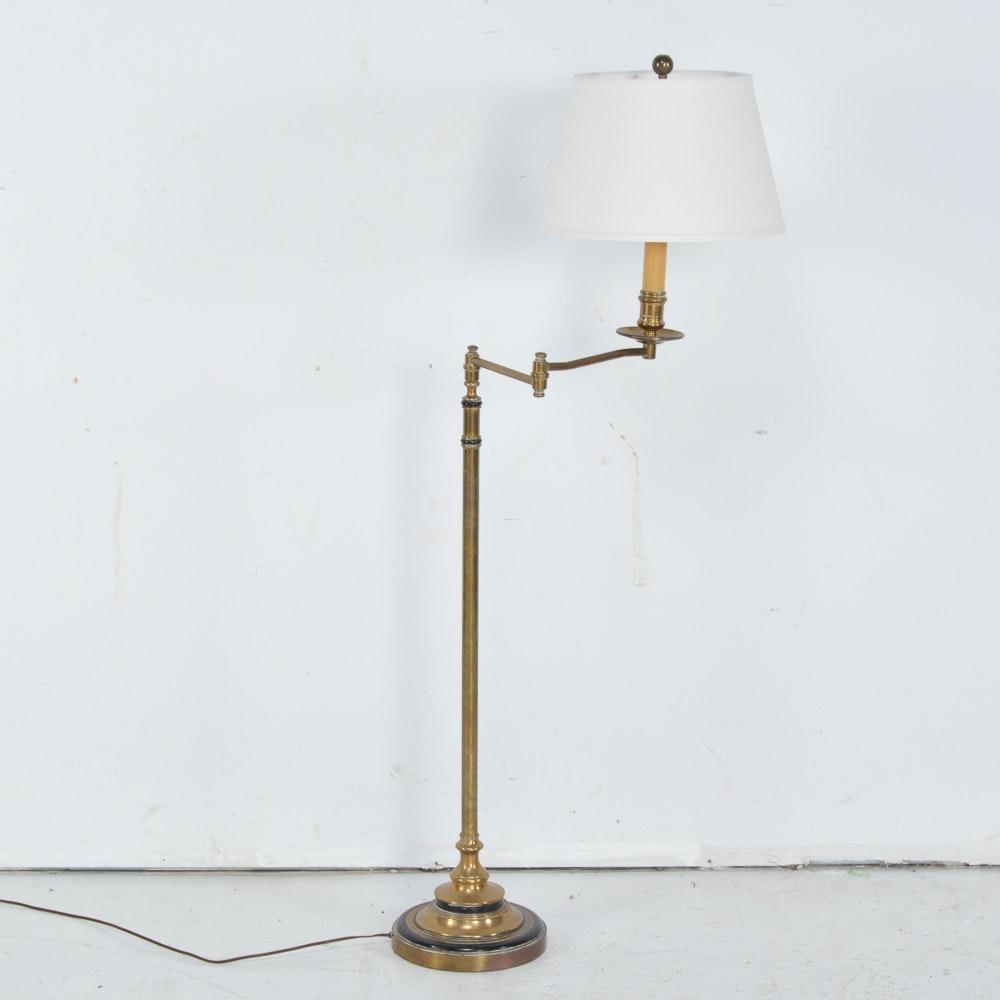 Vintage Chapman Brass Swing Arm Floor Lamp