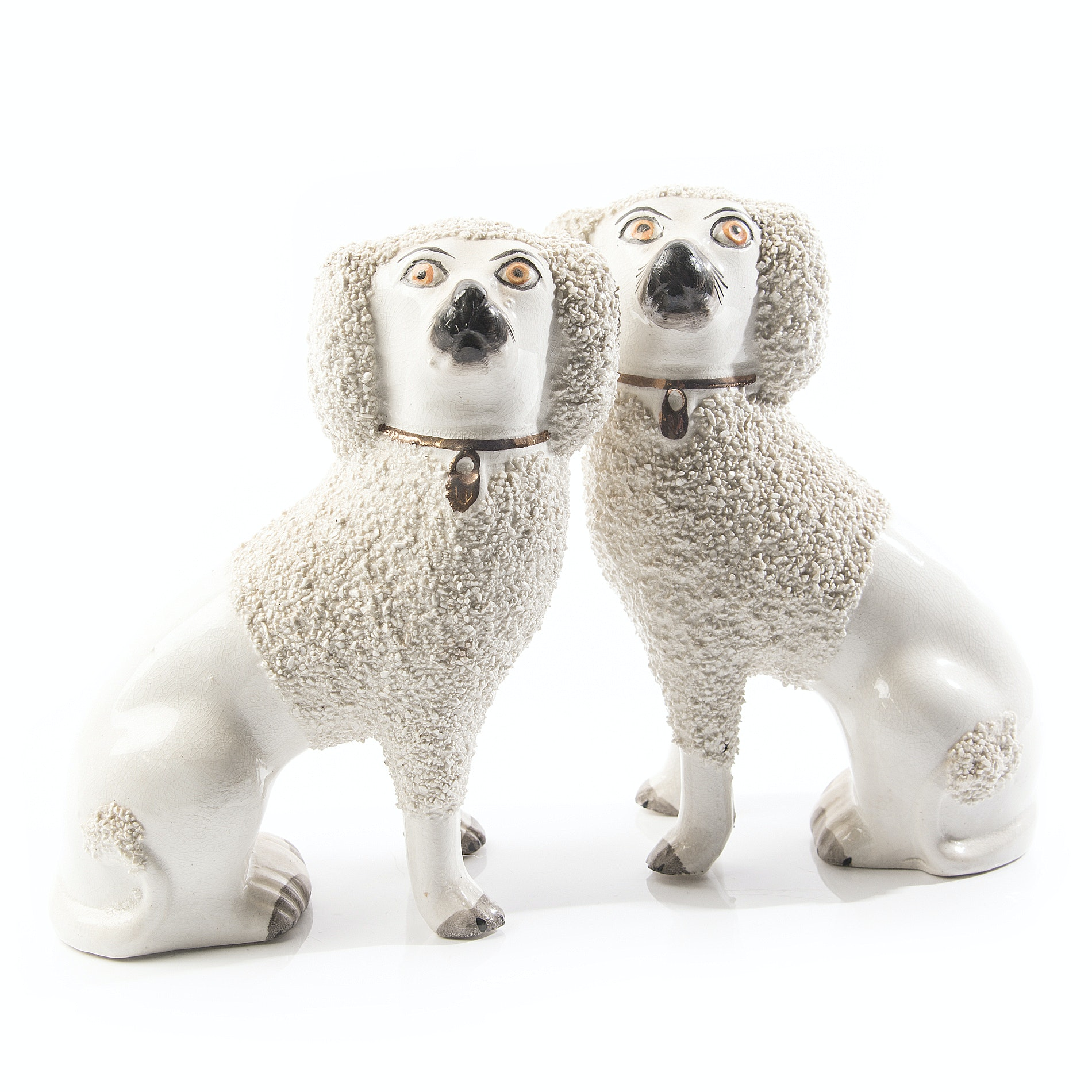 Antique Staffordshire Style Dogs