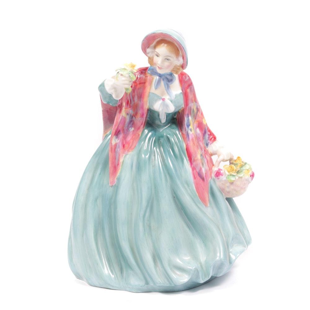 "Royal Doulton English ""Lady Charmian"" Bone China Figurine"