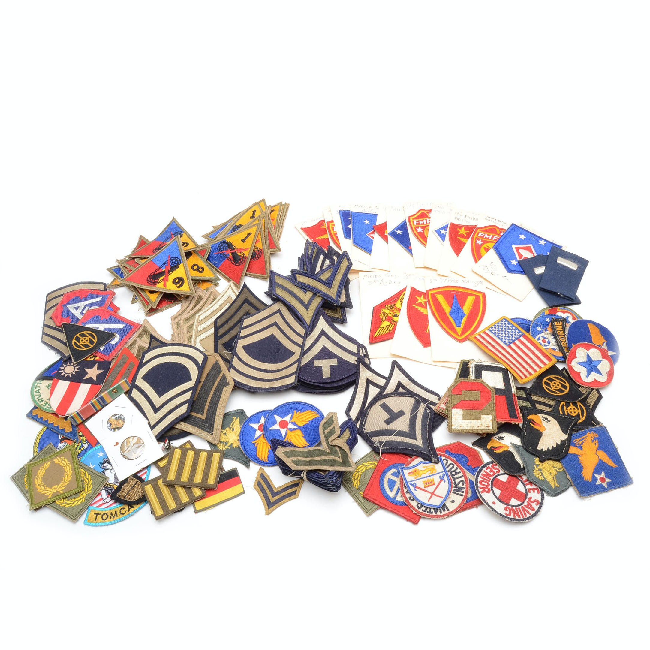 Collection of Vintage US Military Patches