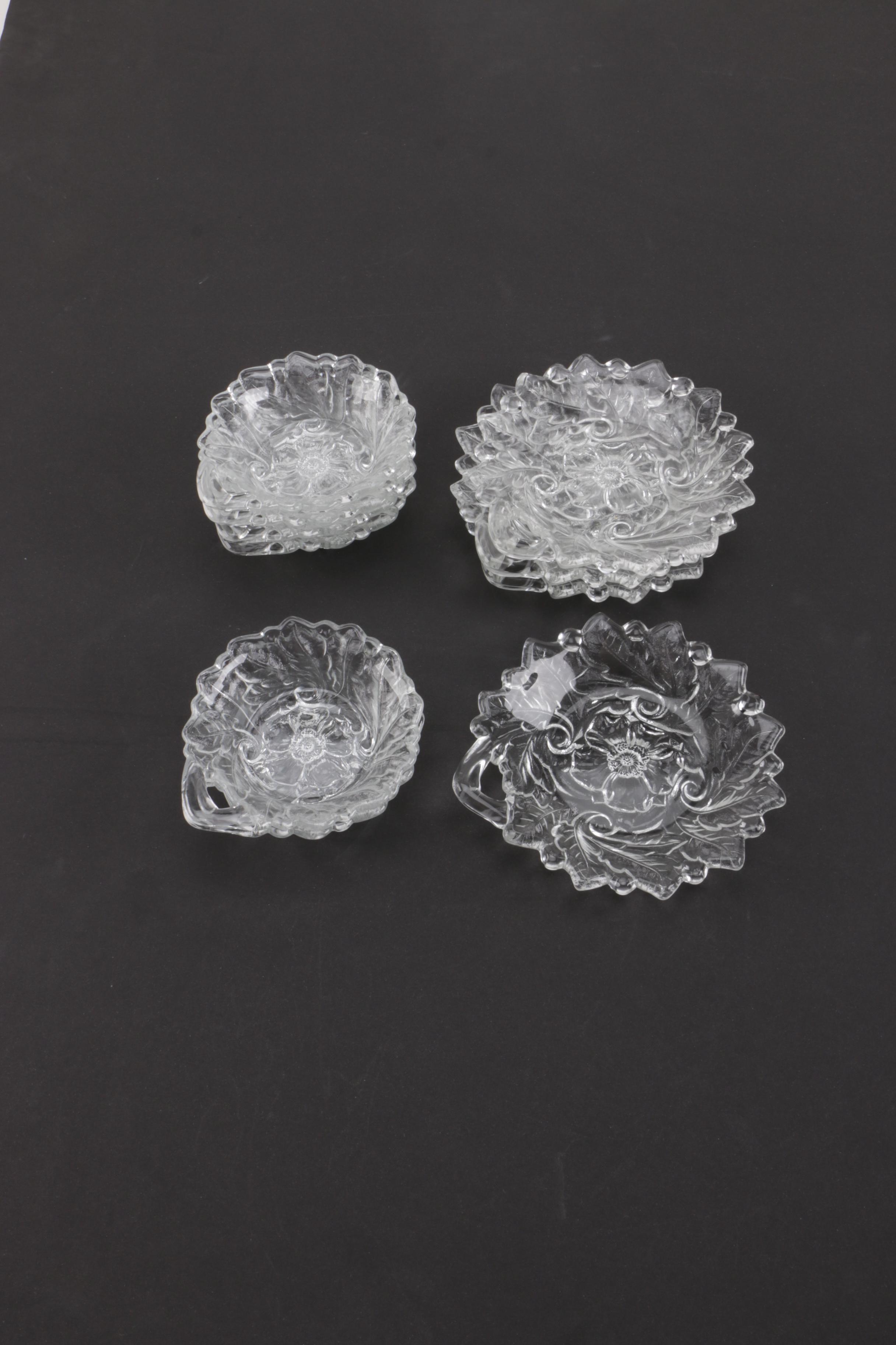 Pressed Glass Nut Bowls