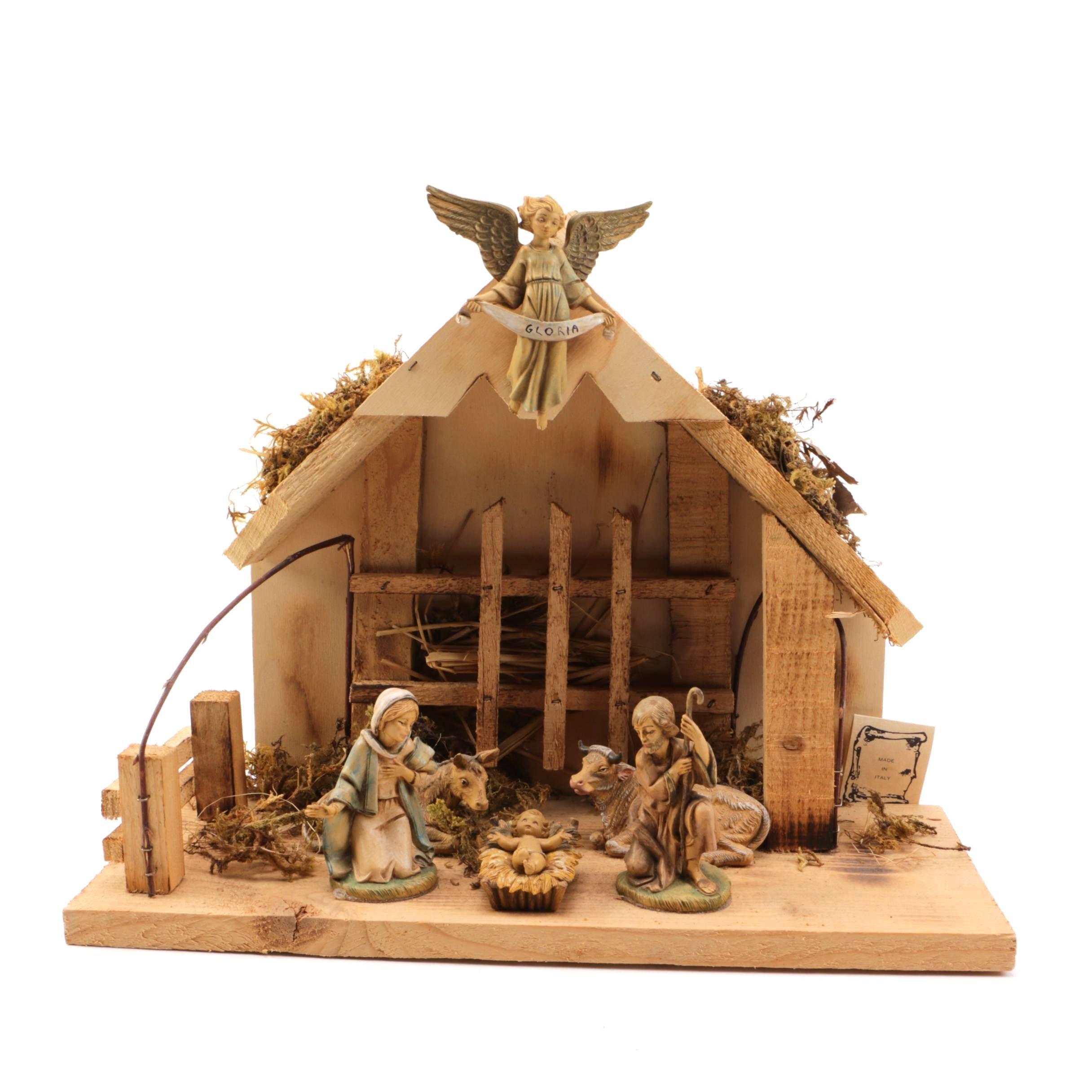 Pasquini Wooden Nativity