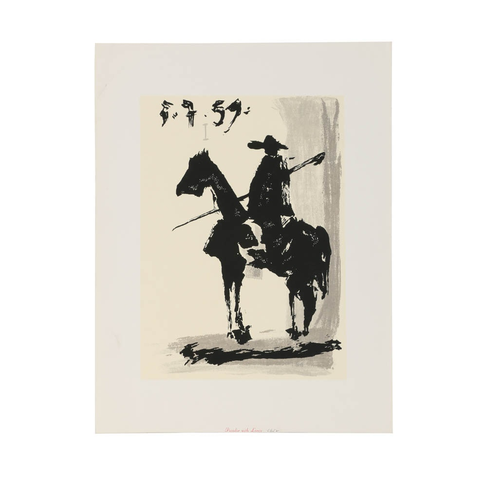 After Pablo Picasso Serigraph On Paper Quot Picador With Lance