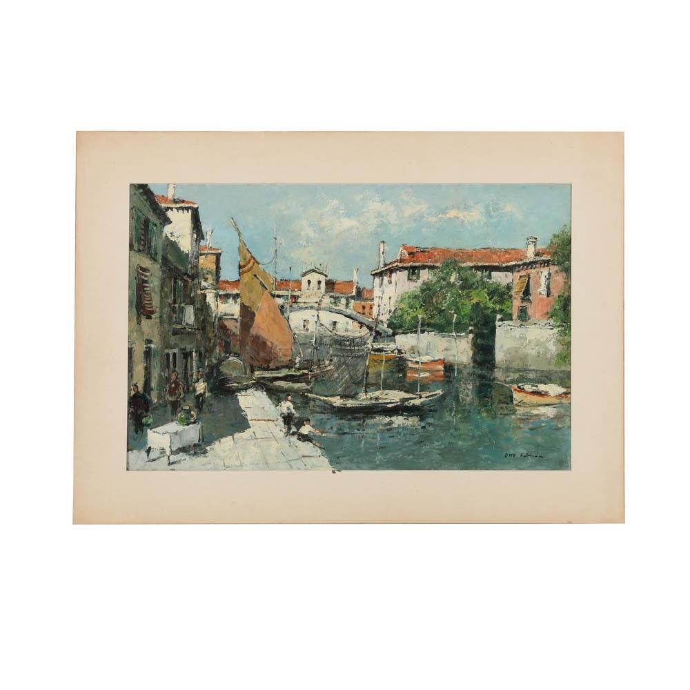 Otto Hellmeier Oil Painting on Board