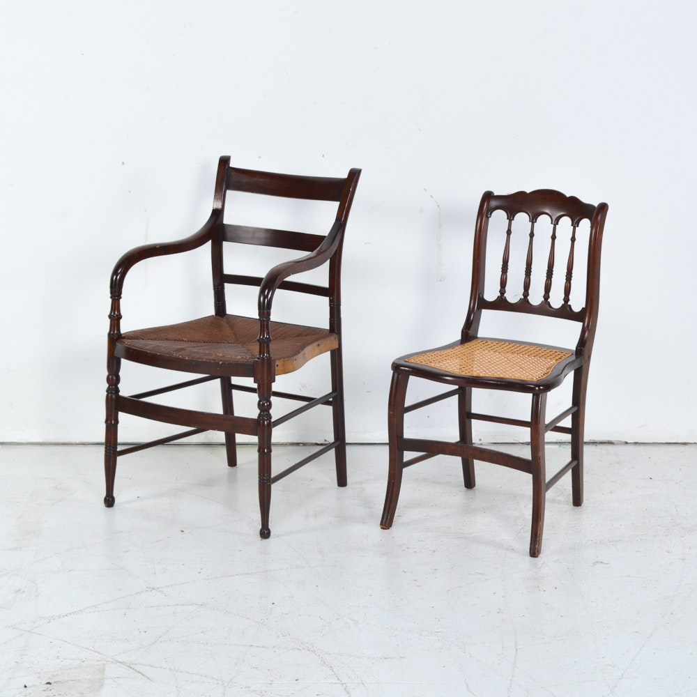 Vintage Sheraton Style Chairs