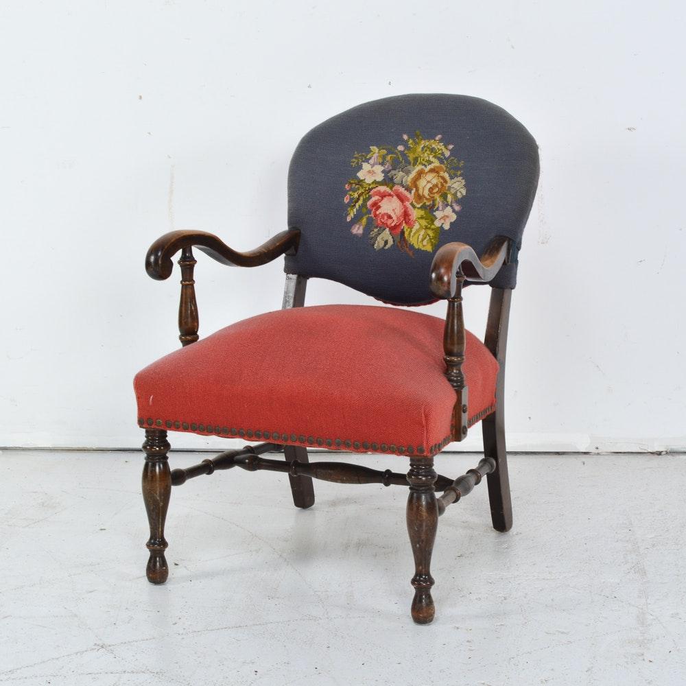 Sheraton Style Needlepoint Armchair