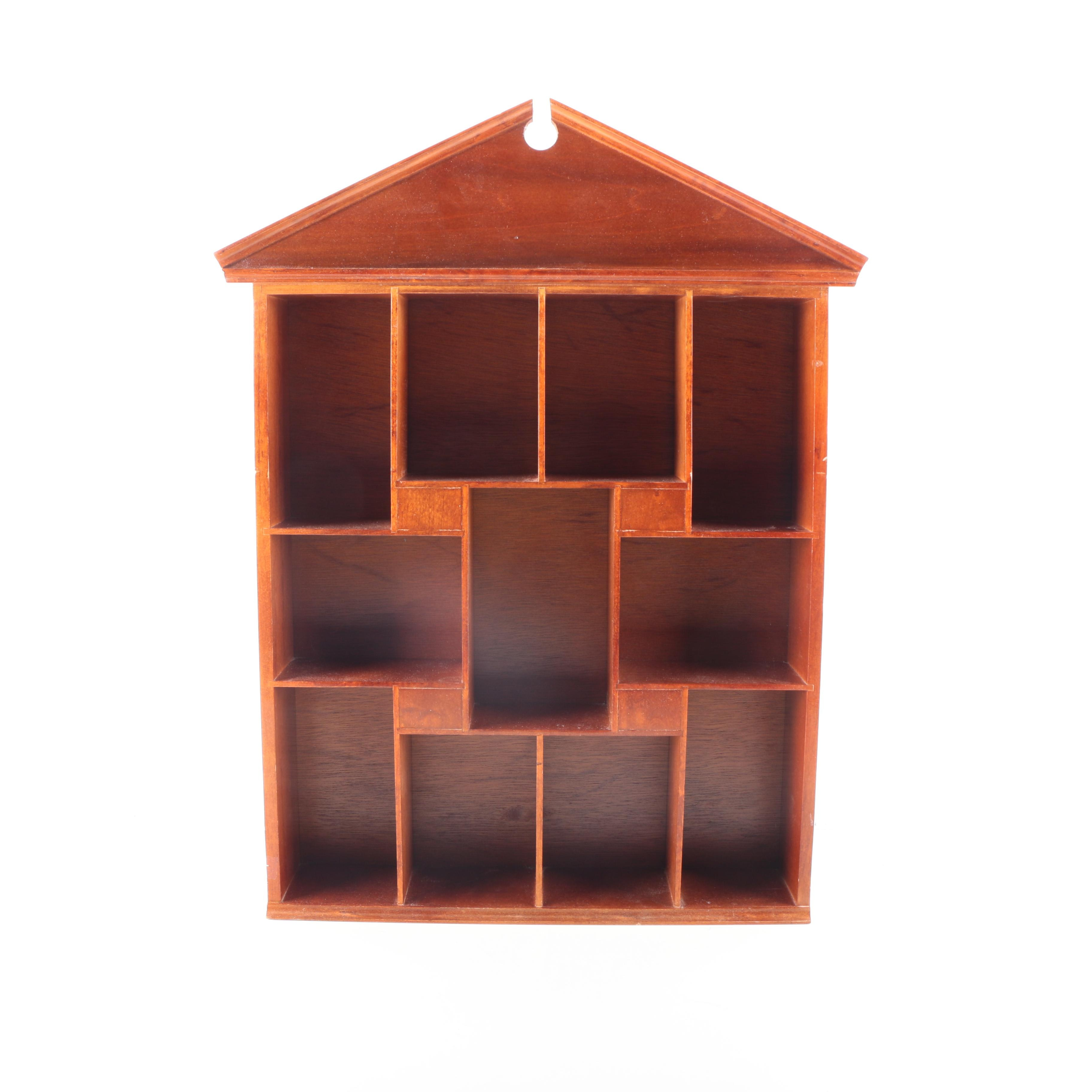Wooden House Shaped Shadow Box