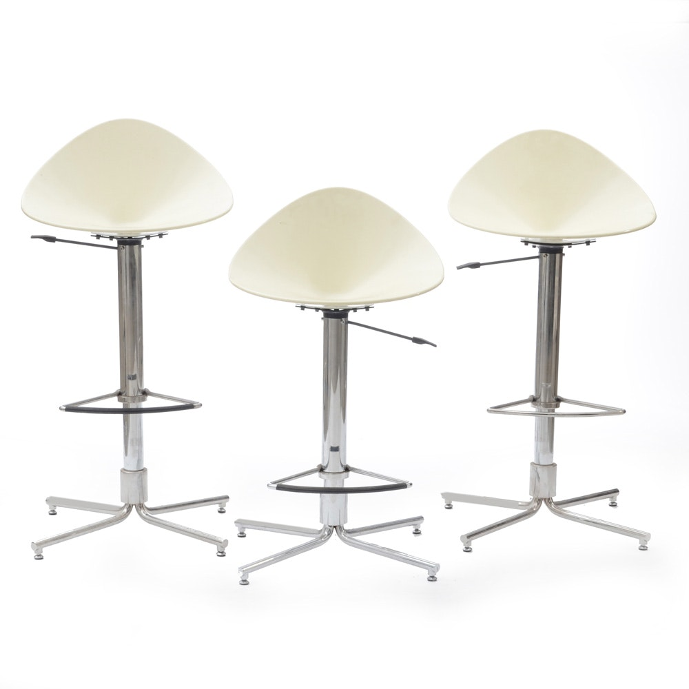 Set of Three Mid Century Modern Counter Stools by Fasem
