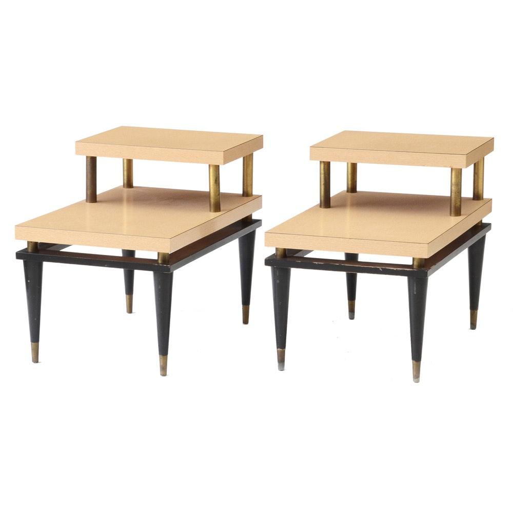 Bleached Oak Grain Laminated End Tables