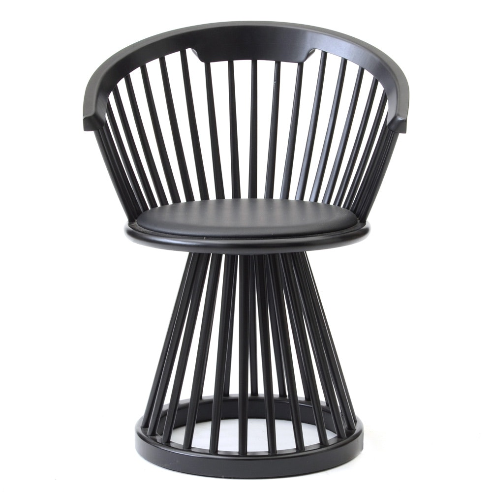 "Modern Style Round Spindled ""Fan"" Dining Chair by Tom Dixon"