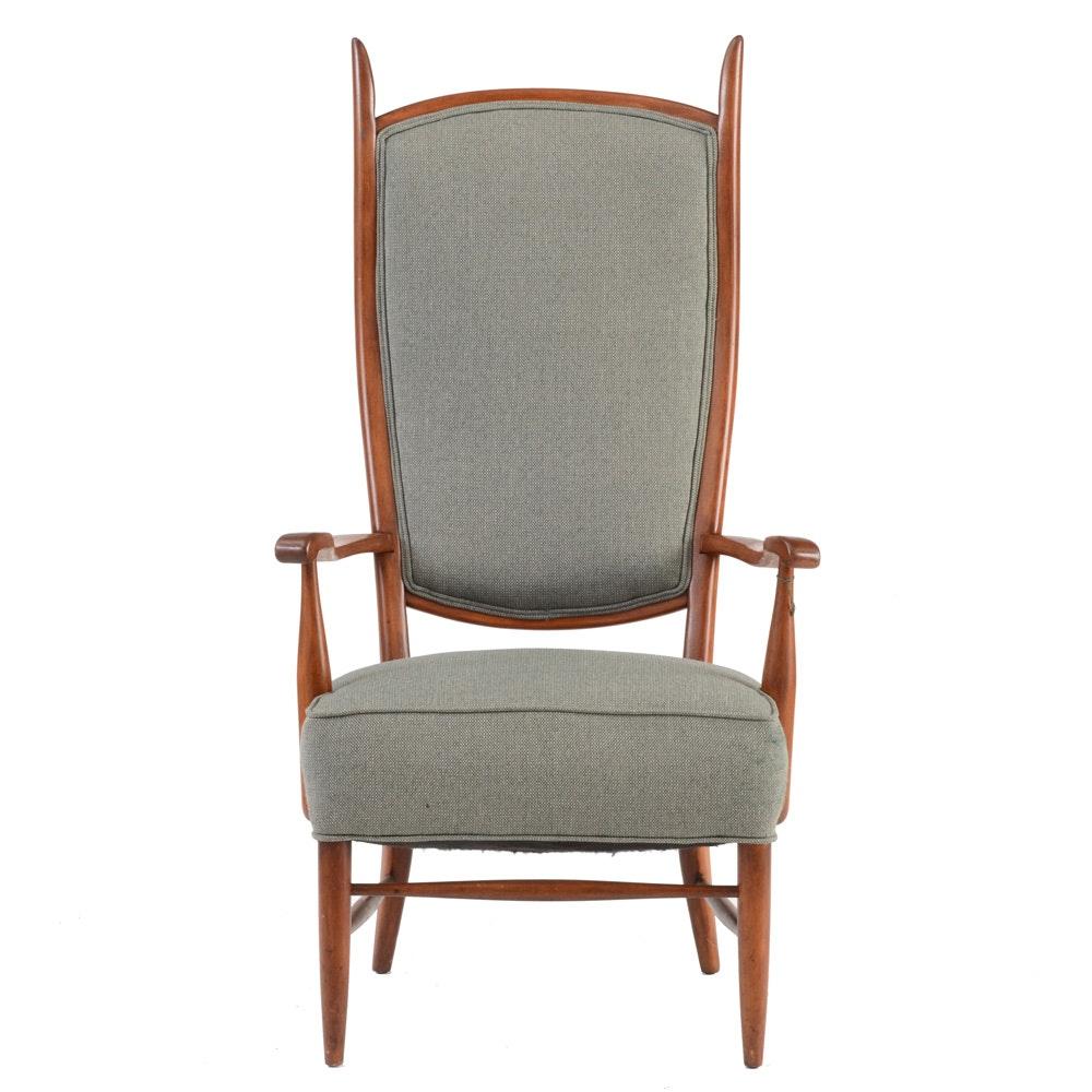 Edward Wormley Designed High Back Chair