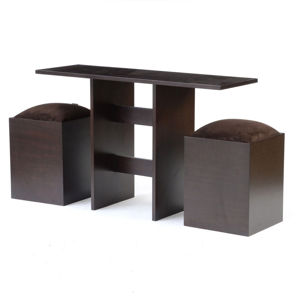 """ME2 """"Observer"""" Console Table with Stools"""