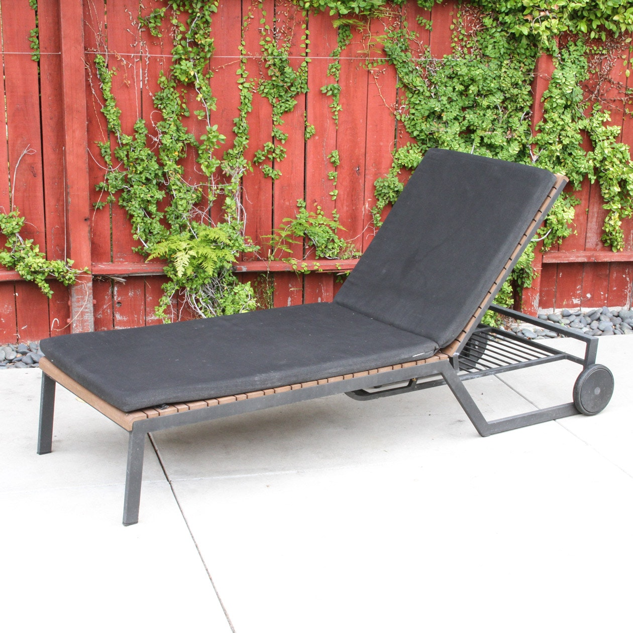 Crate and Barrel Patio Chaise Lounge