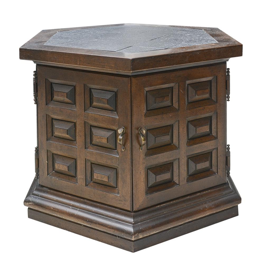Vintage Hexagonal Side Table