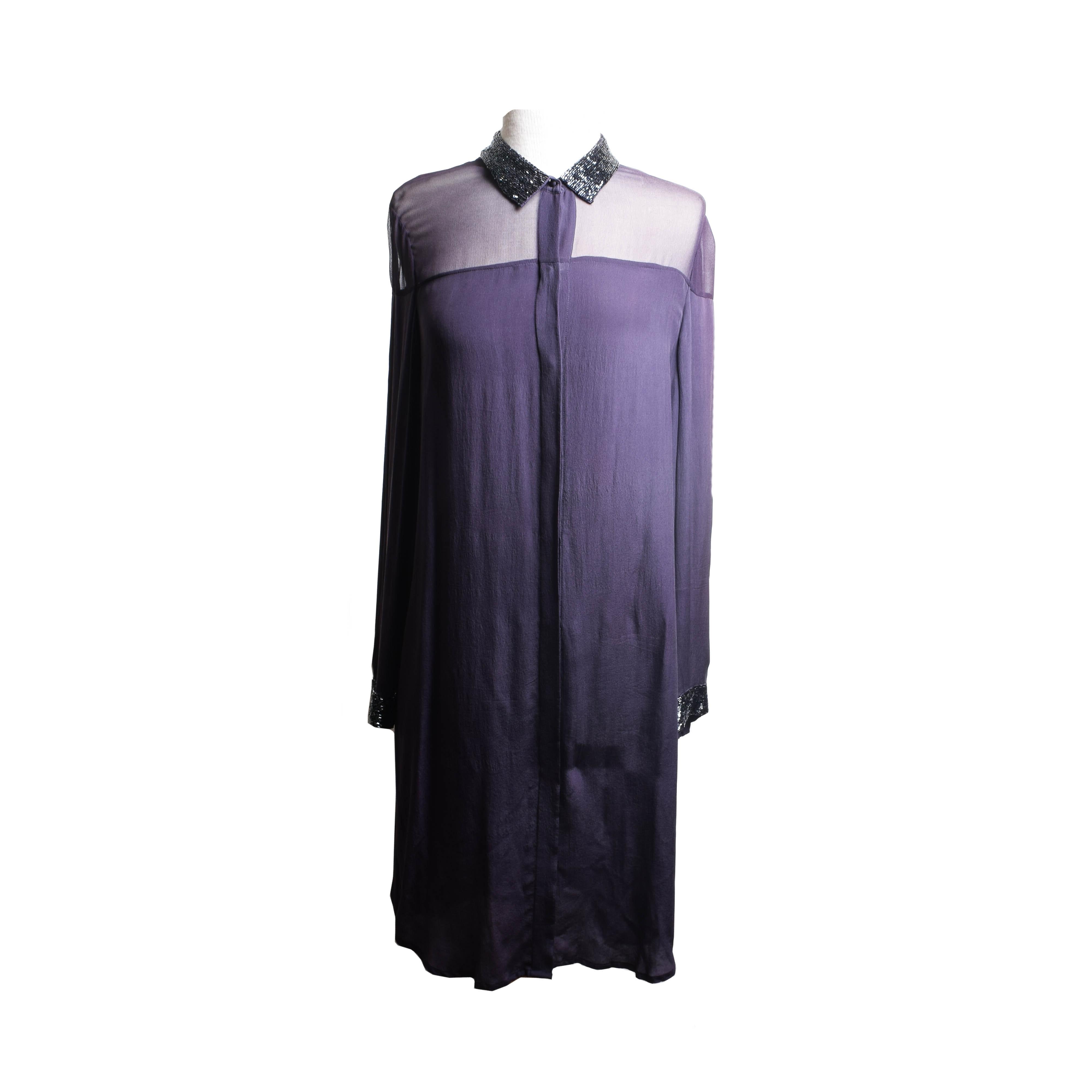 Trelise Cooper Purple Button Down Dress