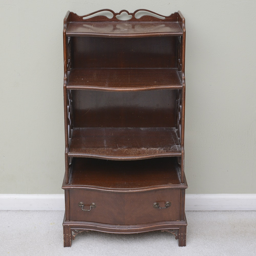 Chippendale Style Serpentine Front Shelving Unit