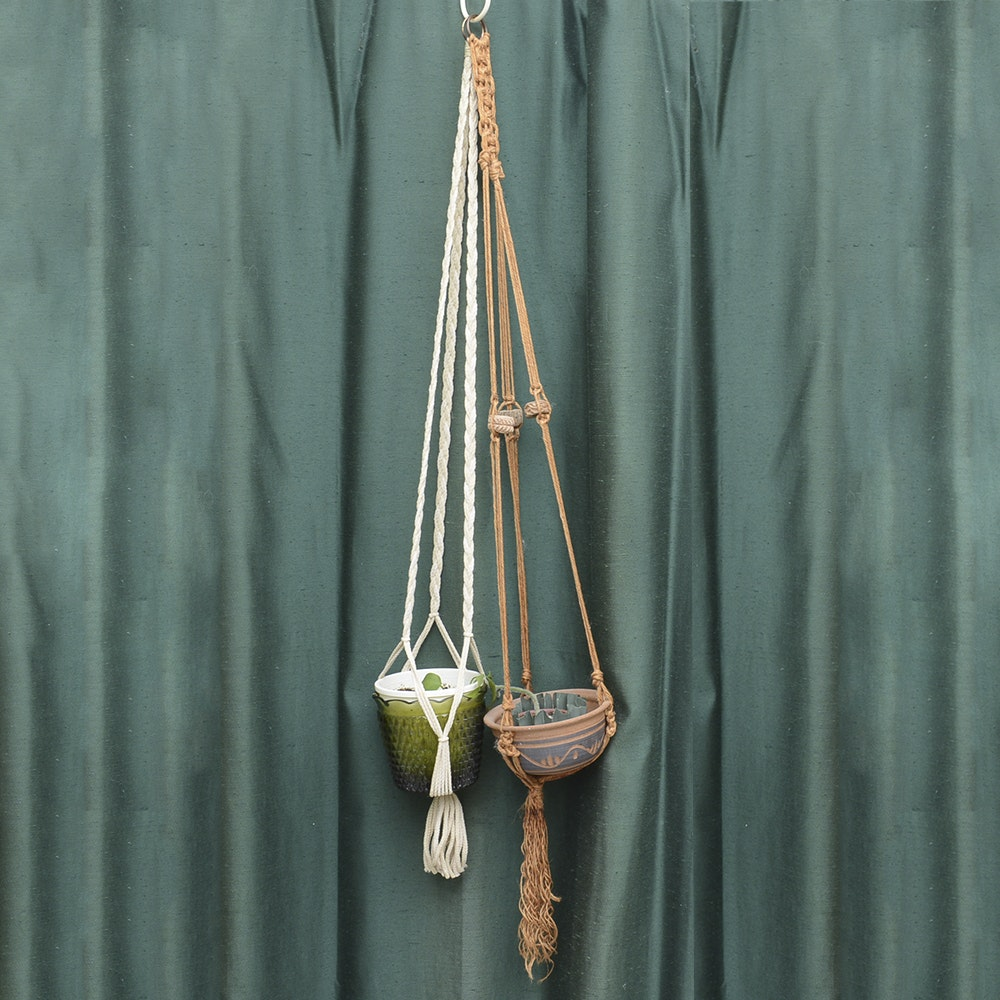 Pair of Hanging Planters
