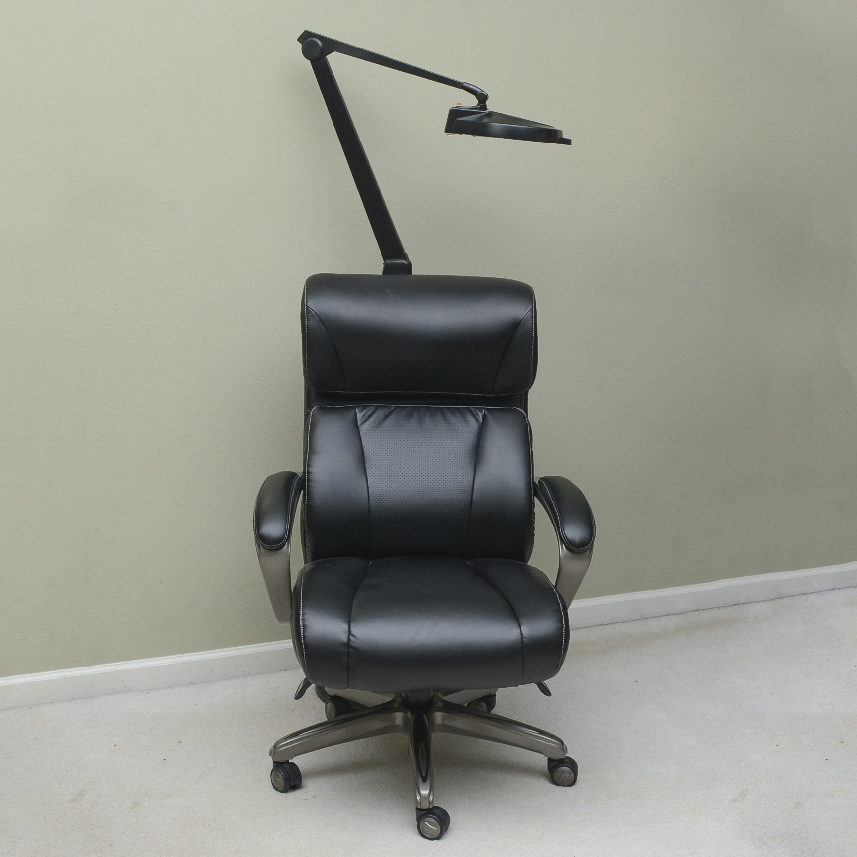 La-Z-Boy Office Chair and Magnifying Light