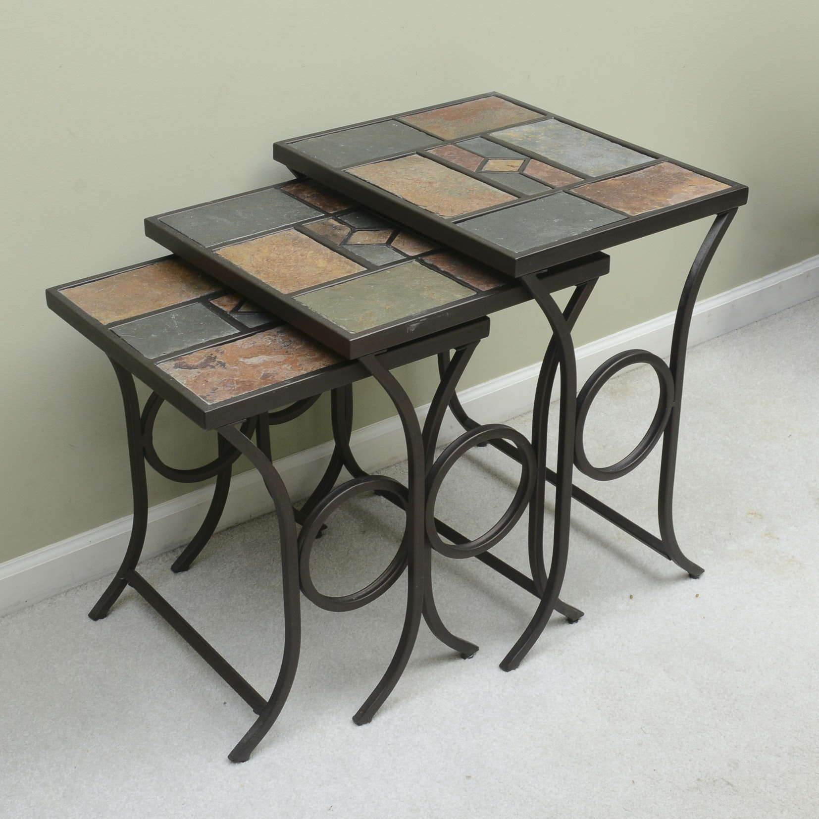 Slate Top Nesting Tables by Hillsdale Furniture