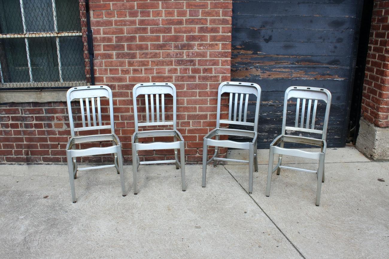 Four Vintage Aluminum Chairs