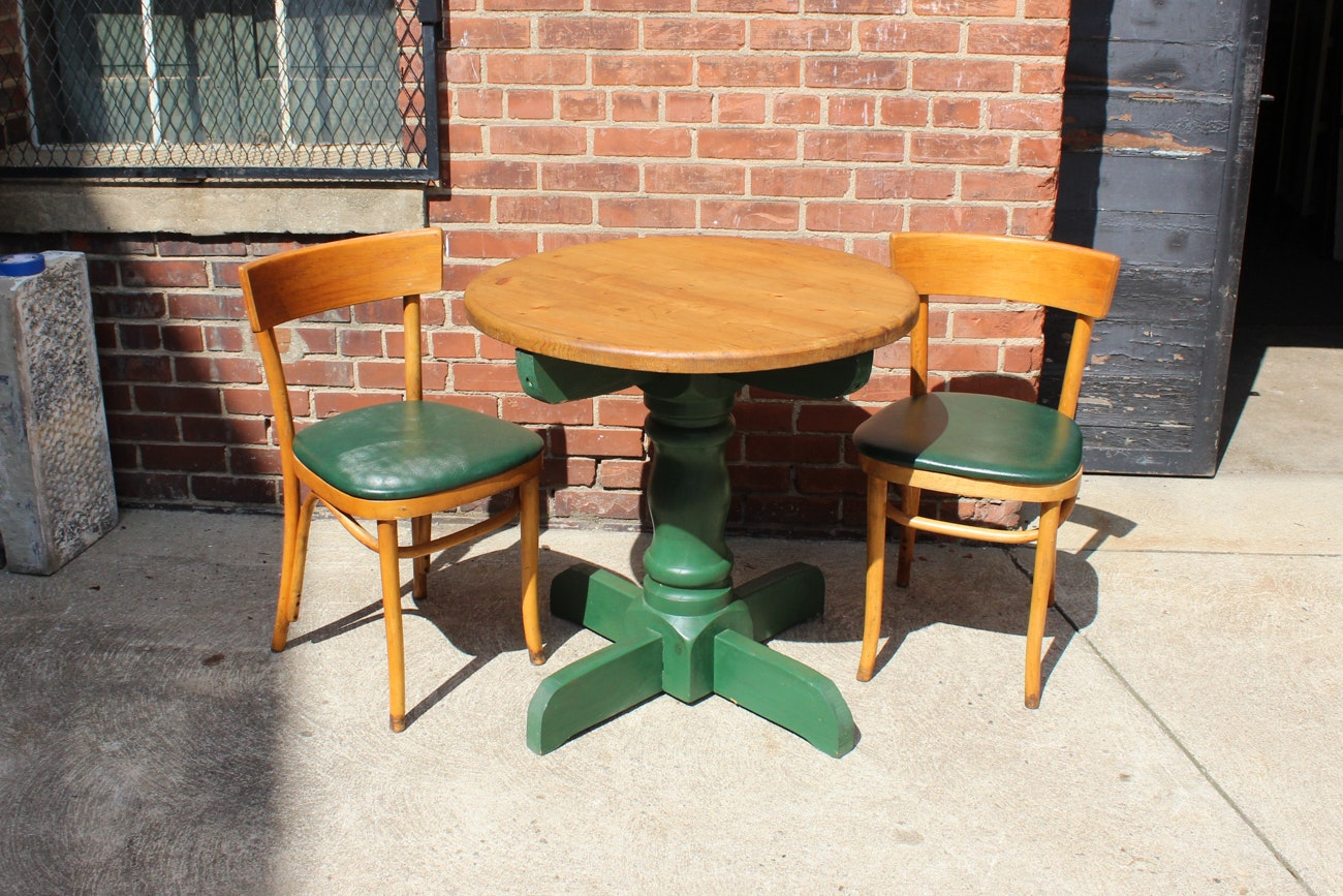 Vintage Pedestal Table and Chairs
