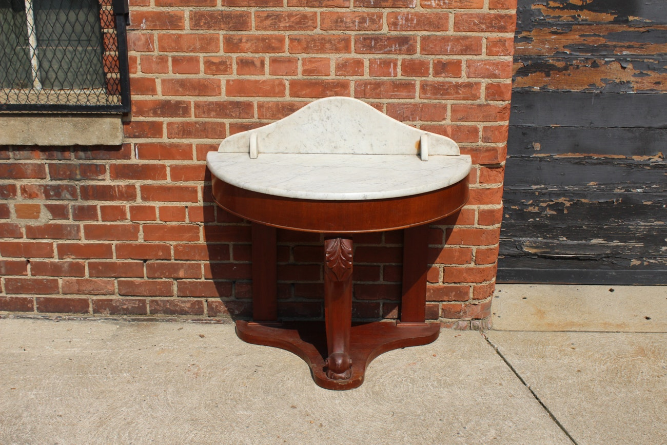 Antique Marble Topped Table