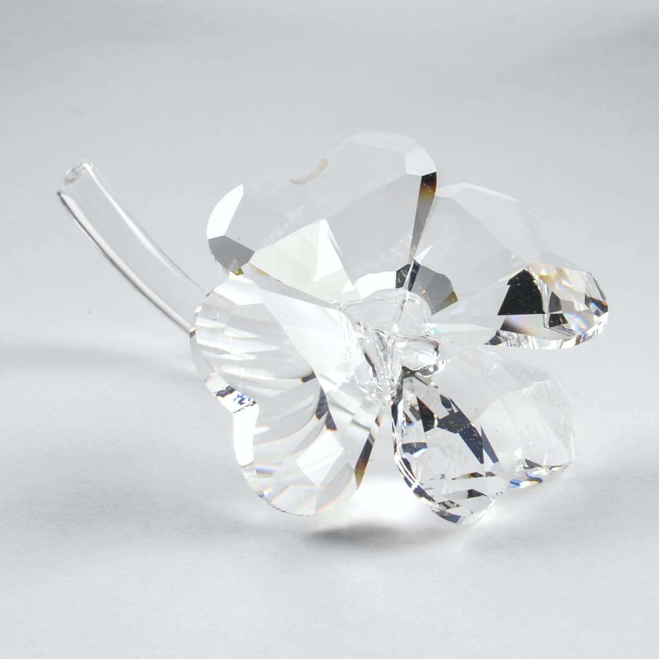 Swarovski Crystal Signed Four-Leaf Clover Figurine
