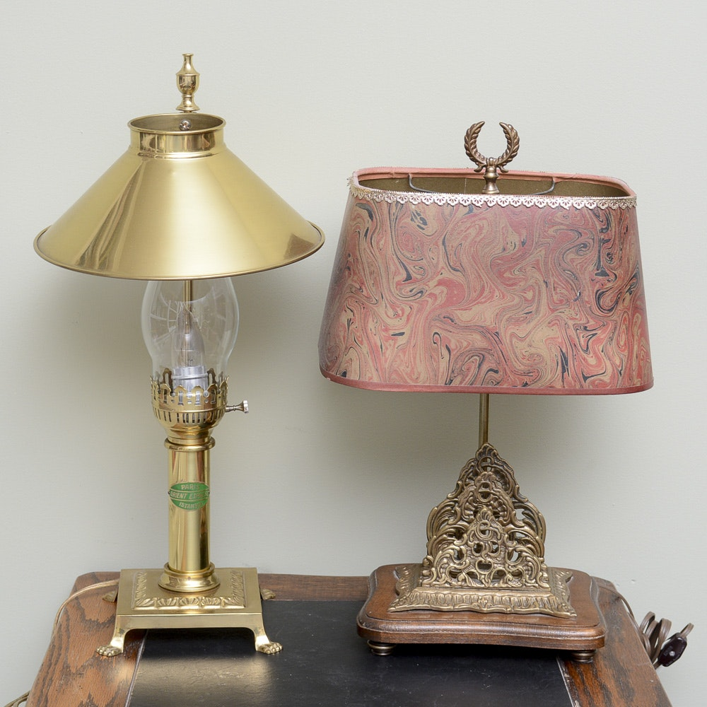 Vintage Brass Accent Lamps