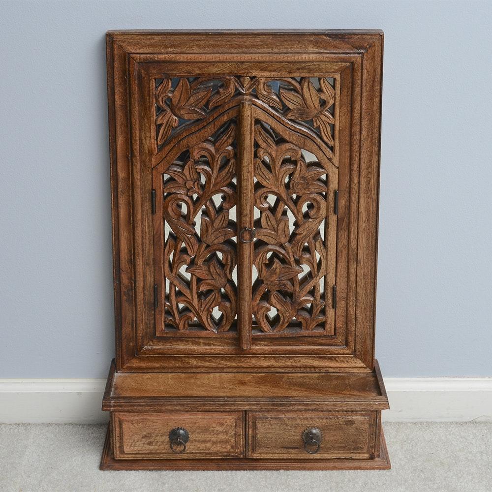 Carved Oak Vanity Top