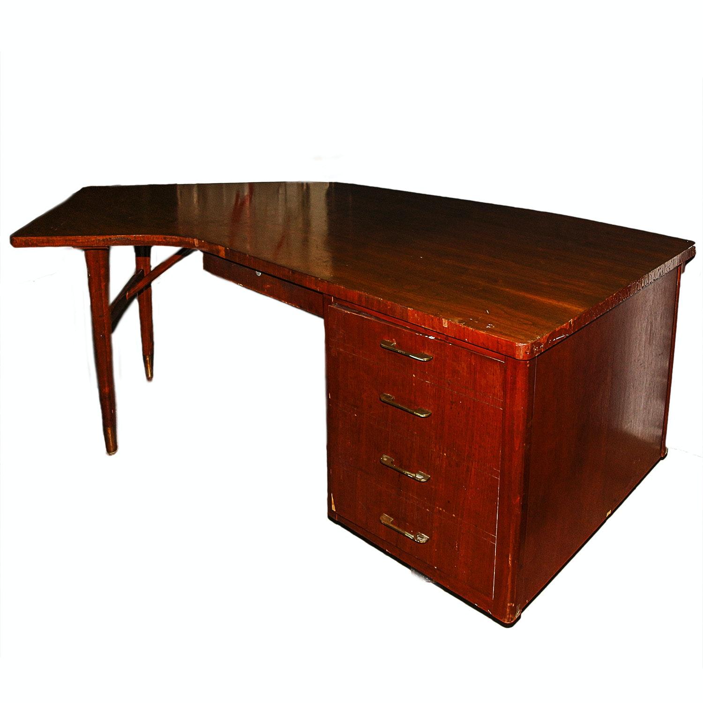 Vintage Mid Century Modern Wooden Desk