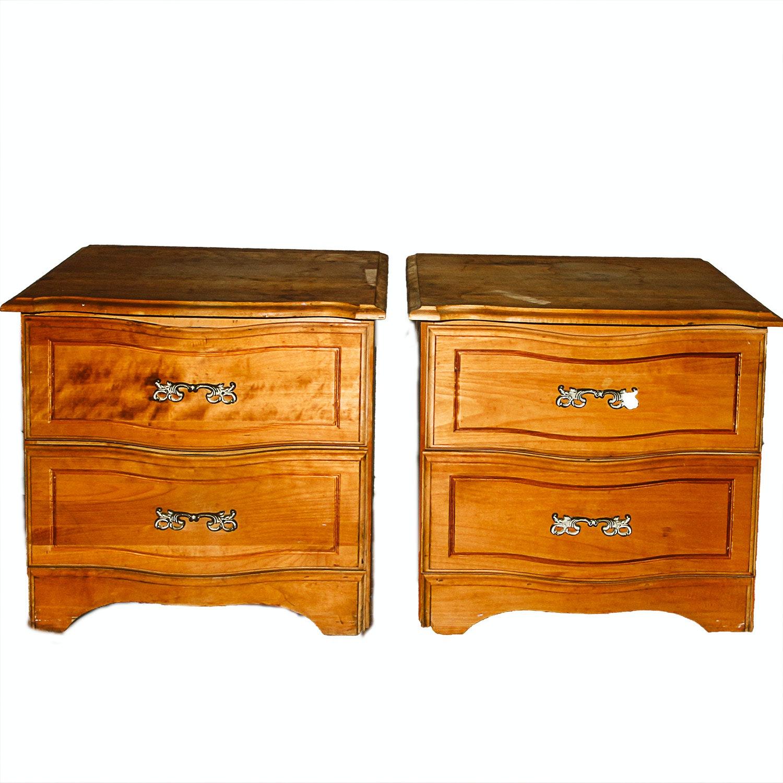 Pair of Wooden Nightstands