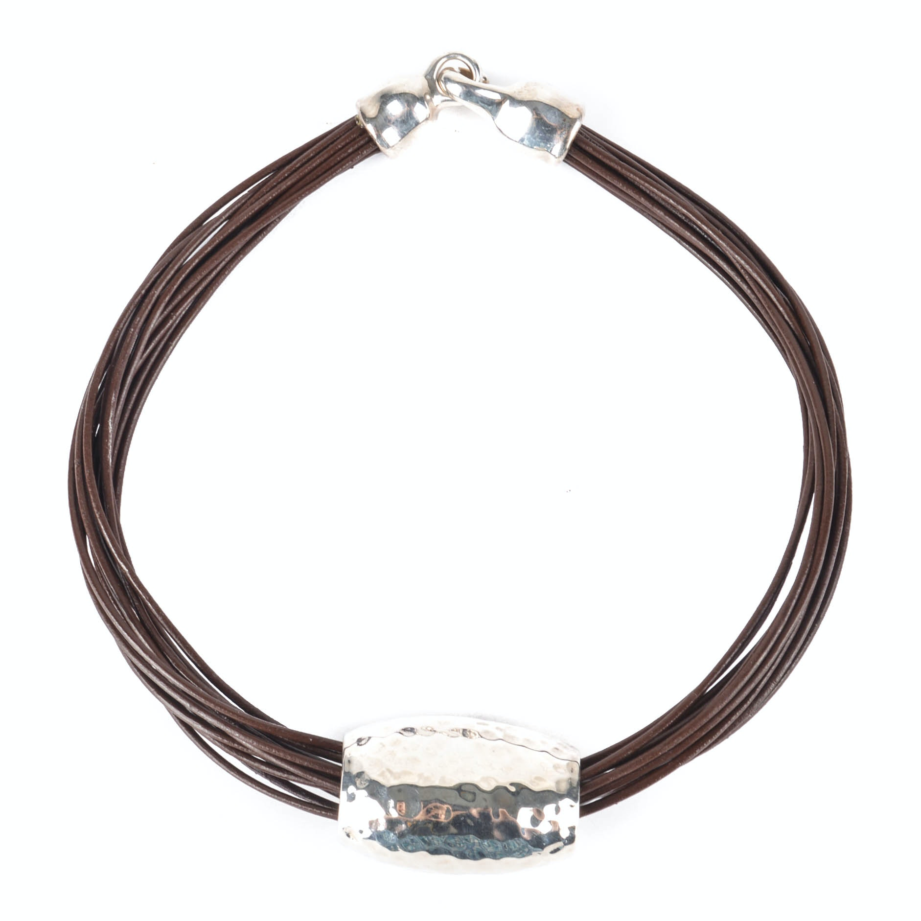 Simon Sebbag Designs Sterling Silver and Leather Necklace