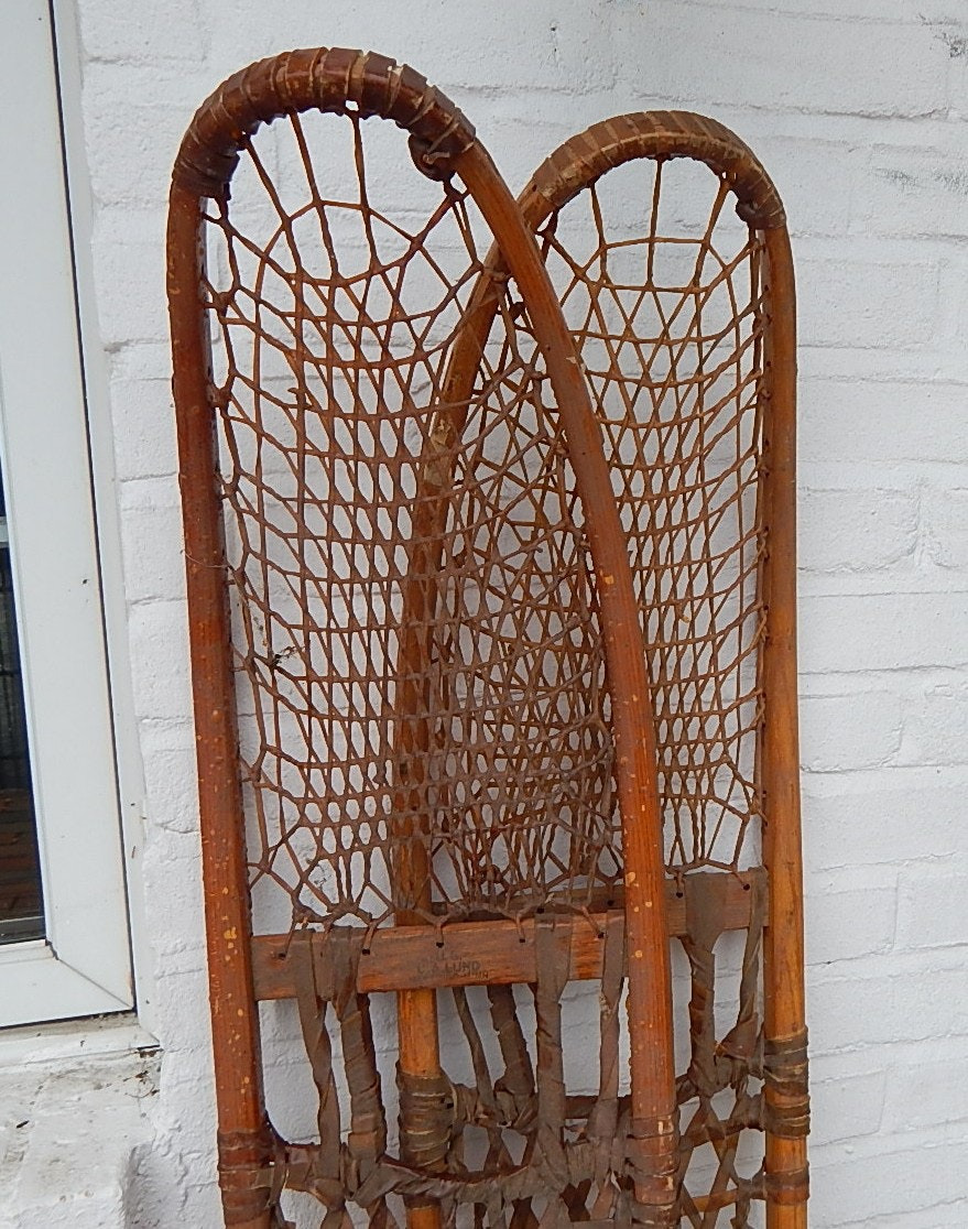 1942 WWII C.A Lund Army-Issued Snowshoes