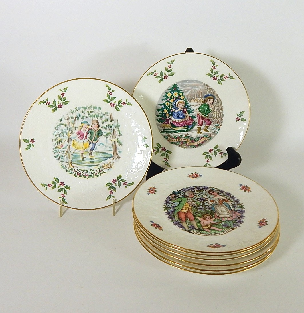 Royal Doulton Christmas and Valentines Day Collectors Plates