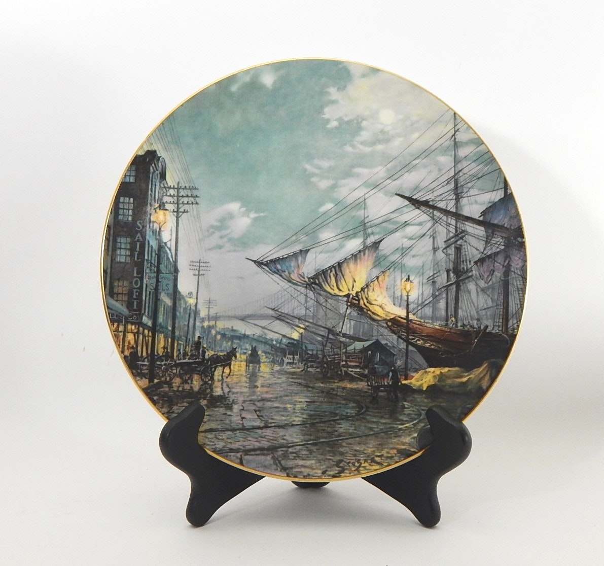 "John Stobart ""Sailing With The Tide"" Royal Doulton Plate"