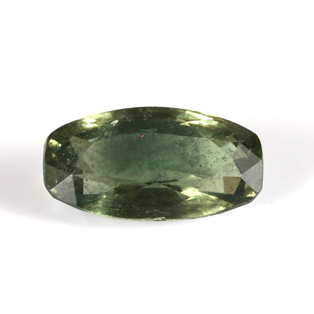 Loose 3.06 CT Green Sapphire with GIA Report