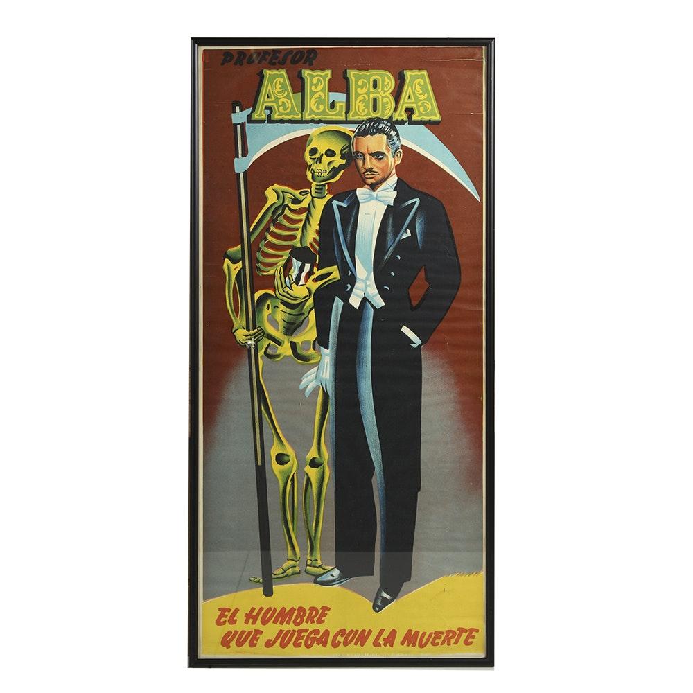 Vintage Profesor Alba Framed Poster