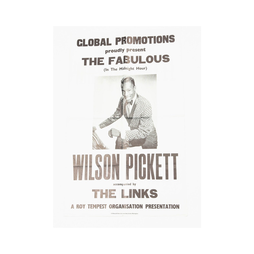 """Wilson Pickett Accompanied by The Links"" Vintage Concert Poster"