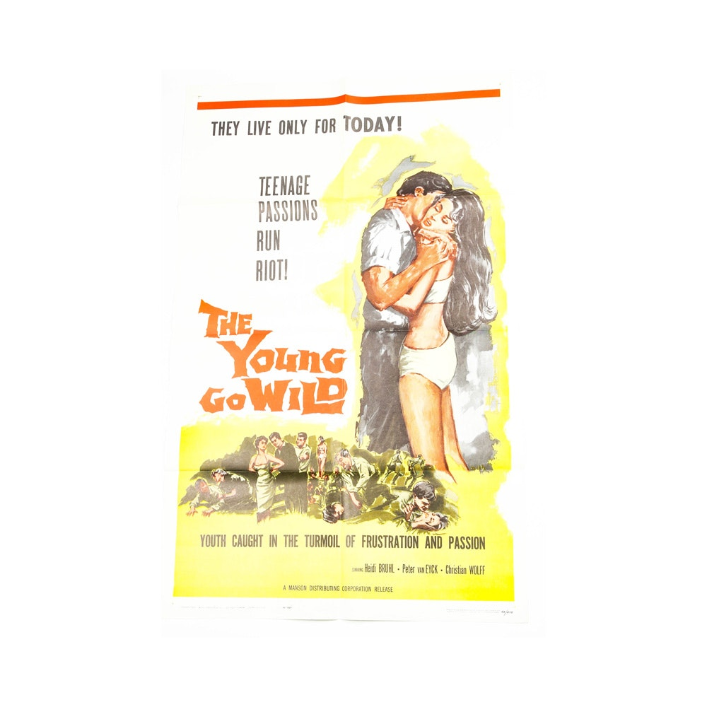 """Offset Lithograph Poster for """"The Young Go Wild"""""""
