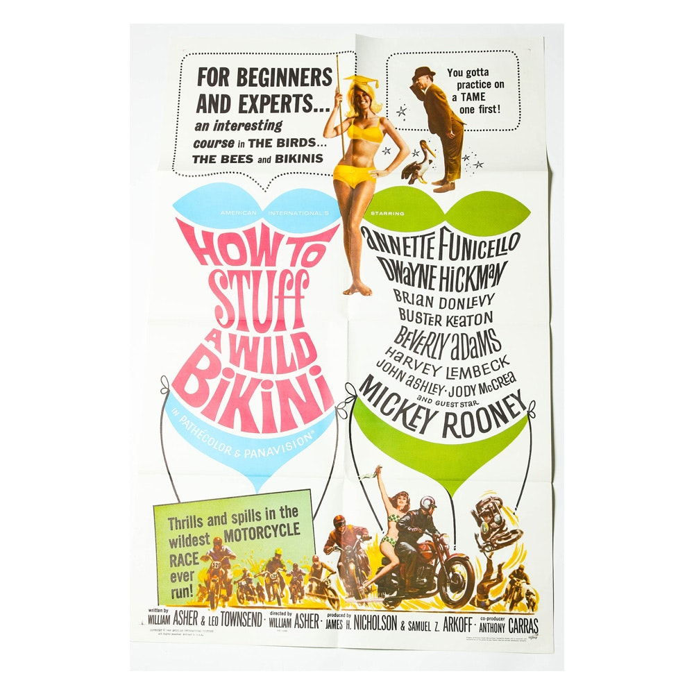 "1965 ""How to Stuff a Wild Bikini"" Movie Poster"
