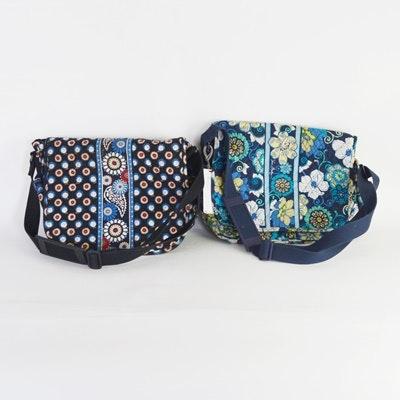 Two Vera Bradley Messenger Bags