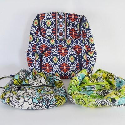Three Vera Bradley Back Pack Style Bags