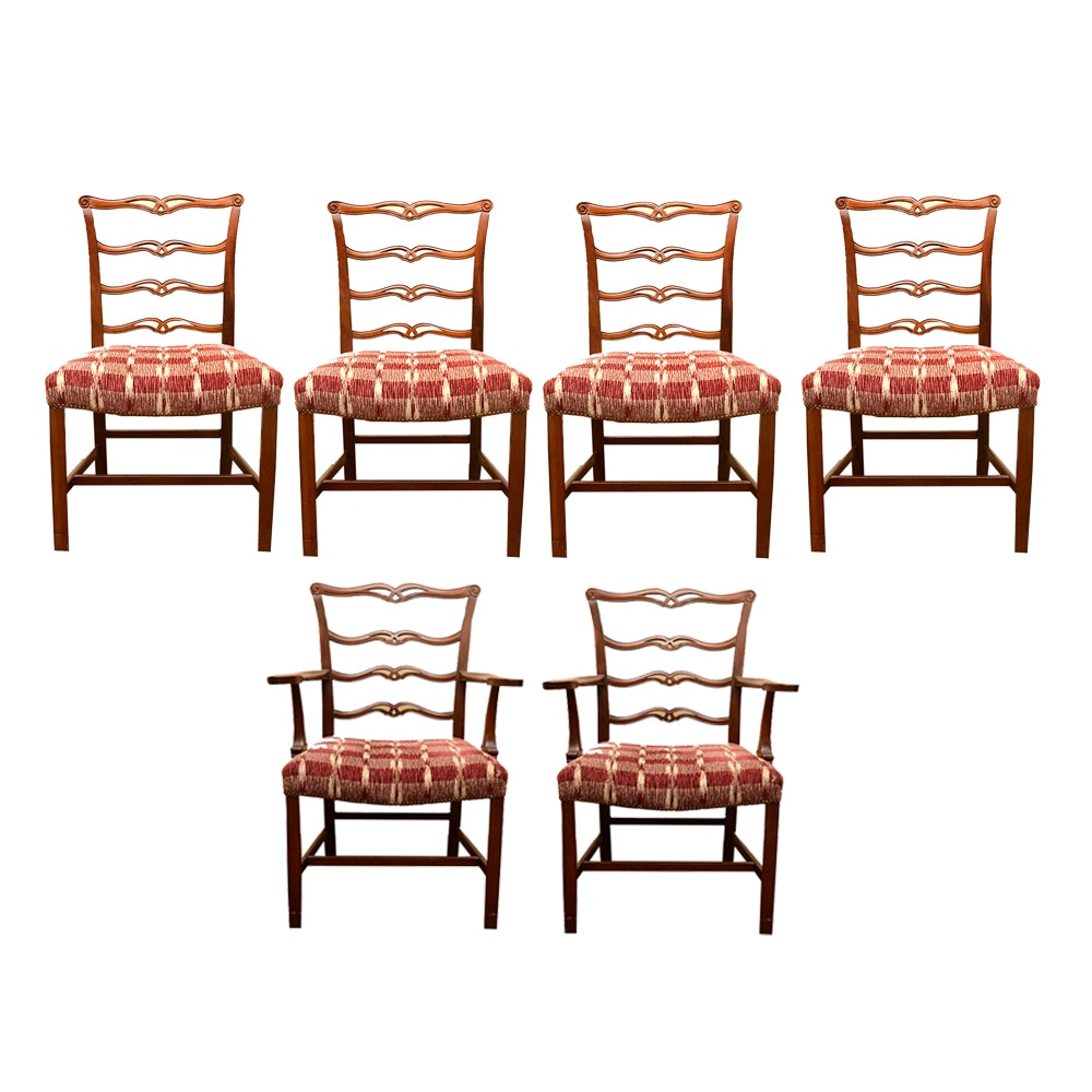 Set of Chippendale Style Ribbon Back Chairs