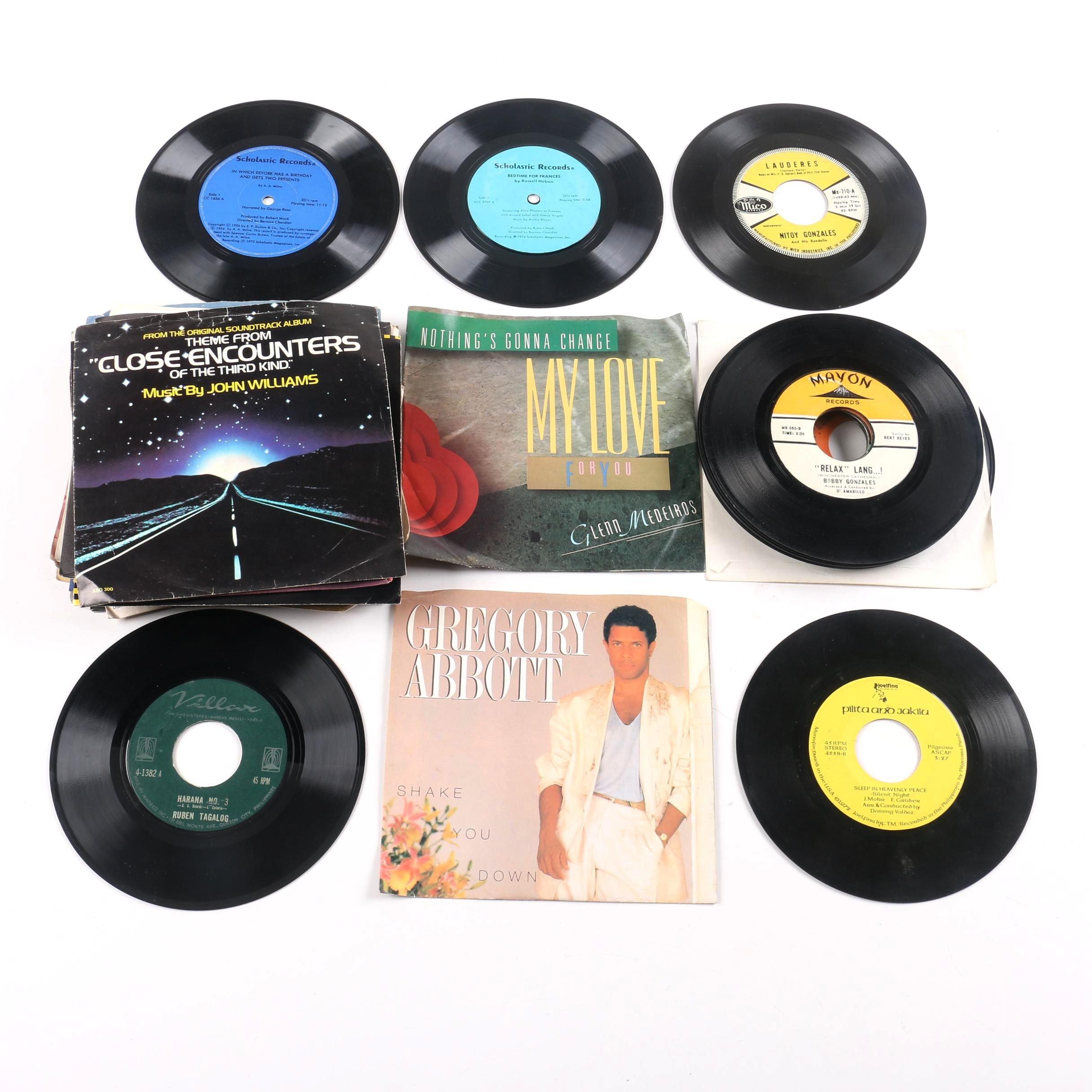 Janet Jackson, Klymaxx, Children's and Other 45 rpm Singles