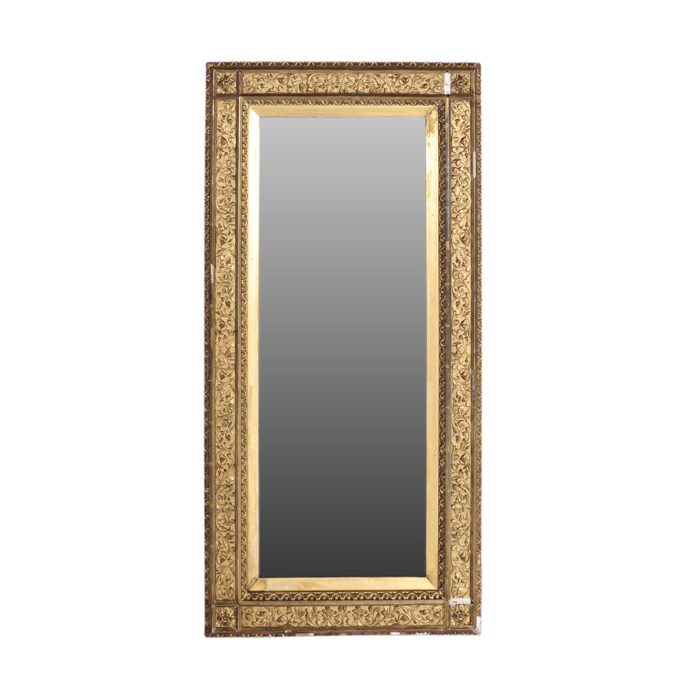 Gold Tone Wooden Framed Mirror
