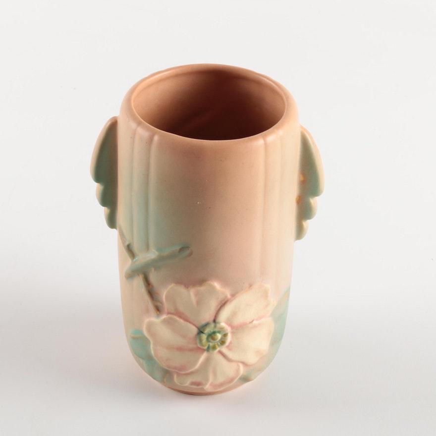 Weller Pottery Dogwood Vase Ebth