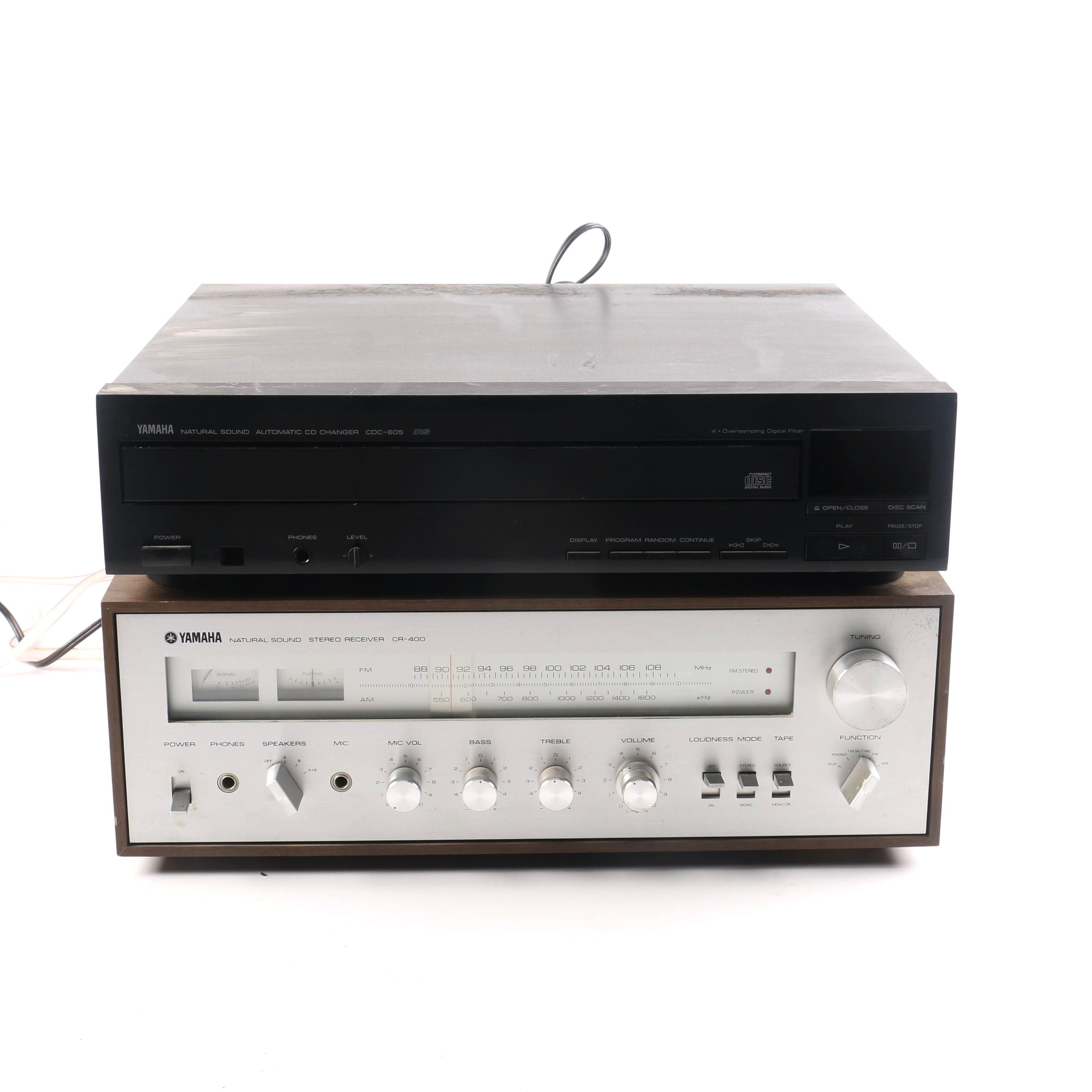 Vintage Yamaha Receiver and CD Changer