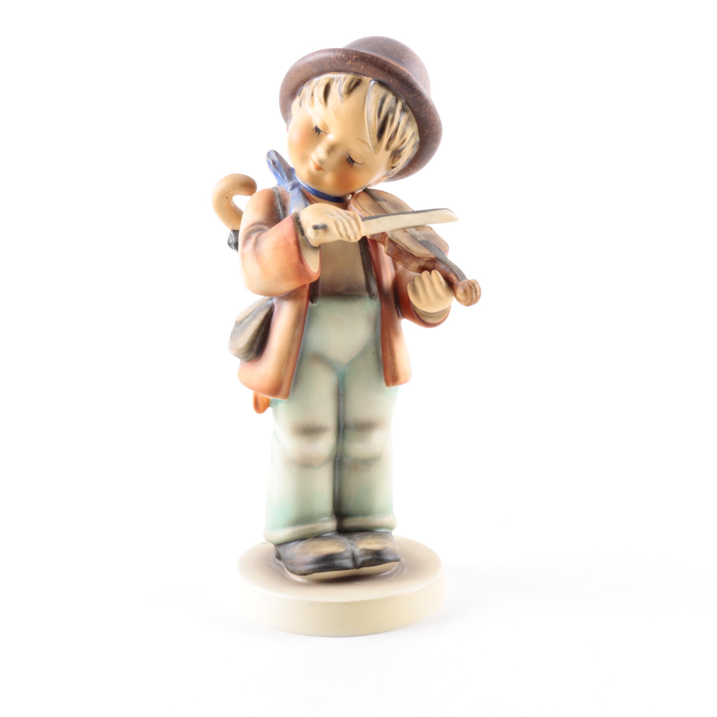 """Vintage Hummel """"Little Fiddler"""" Porcelain Figurine"""