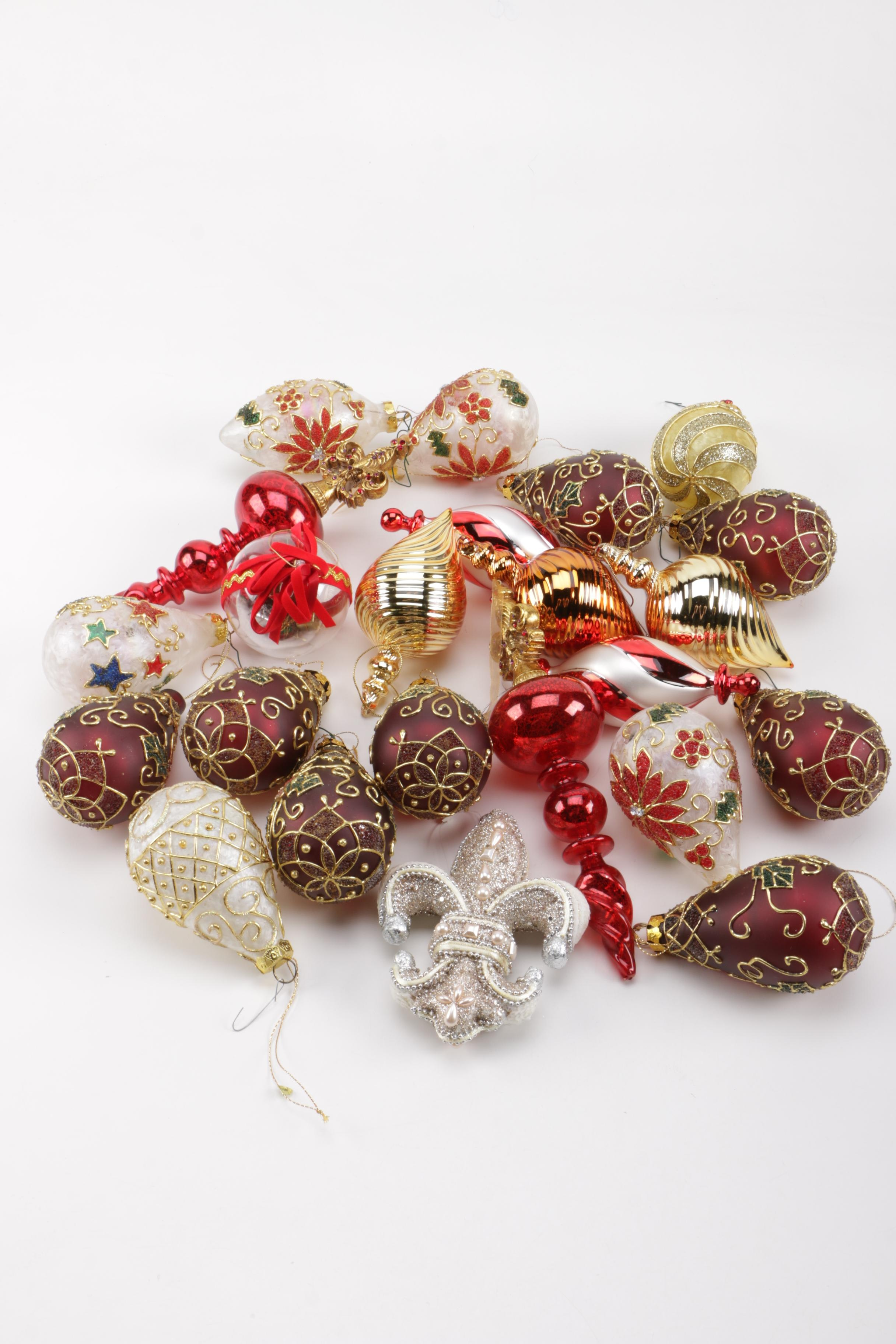 Large Collection of Christmas Ornaments